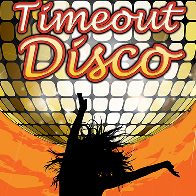 timeout disco banner design and print