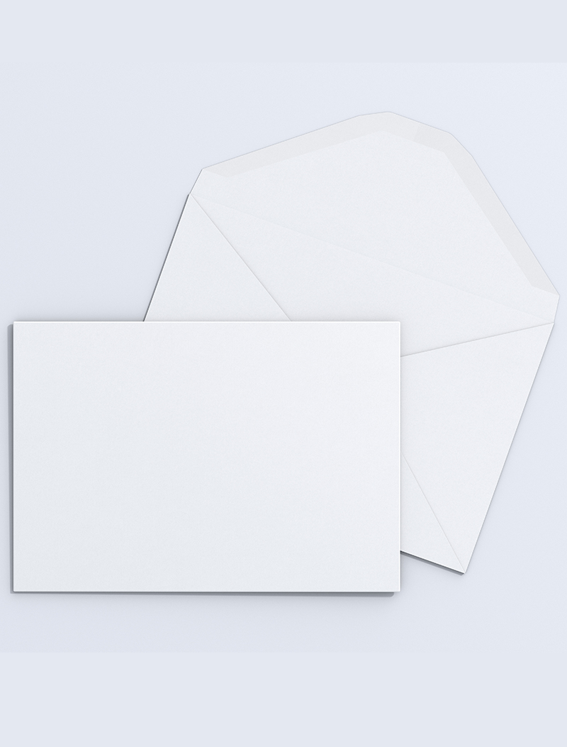 Correspondence Card and envelope