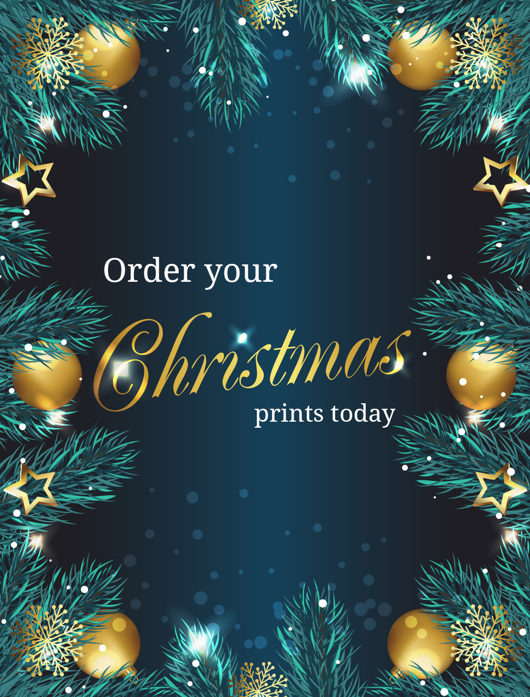 poster with christmas design